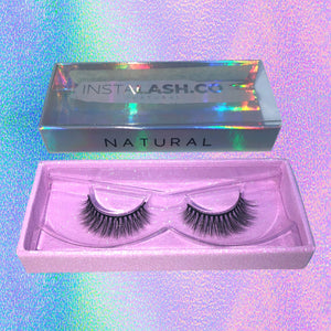 NATURAL INSTALASH Vegan Premium Synthetic Lashes Reusable 35+ Times