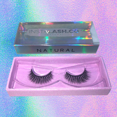 NATURAL INSTALASH Vegan Premium Synthetic Lashes Reusable 35+ Times - Insta Lash Co