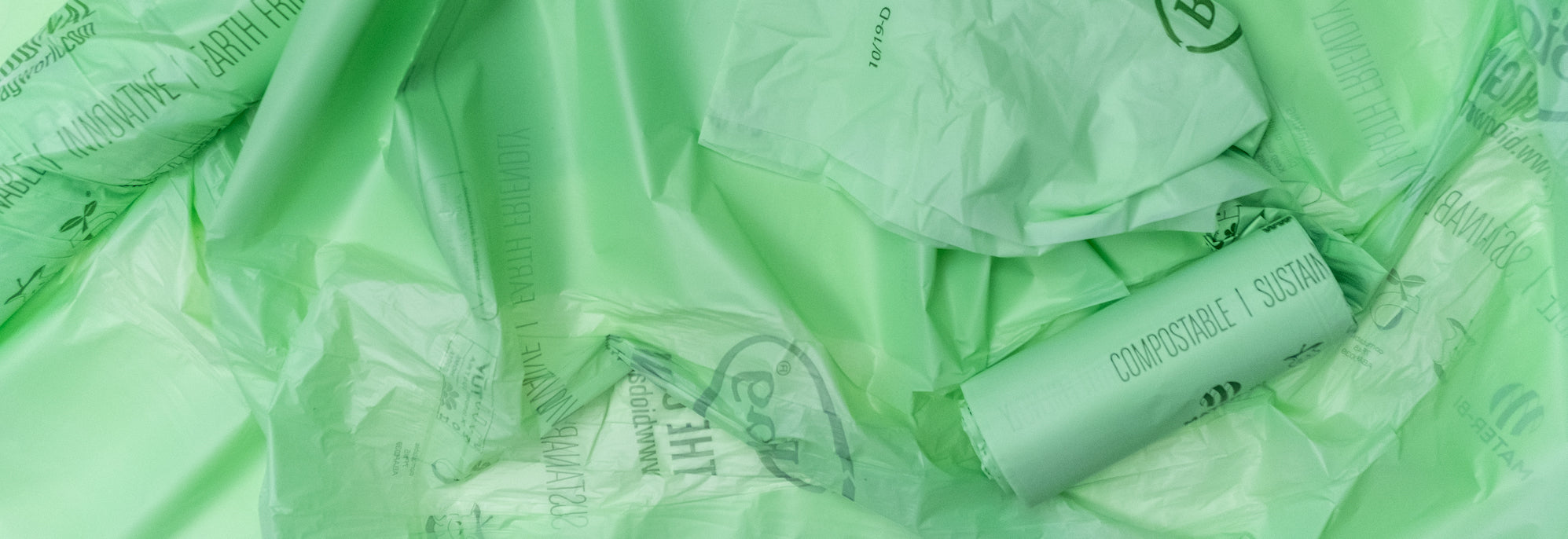 Image of compostable and sustainable bio plastic bags