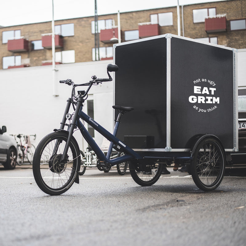 Bicycle used for delivery of GRIM boxes