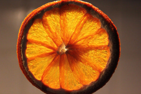 Close-up of a dried orange slice