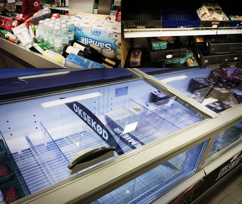 Empty fridges caused by hoarding during coronavirus