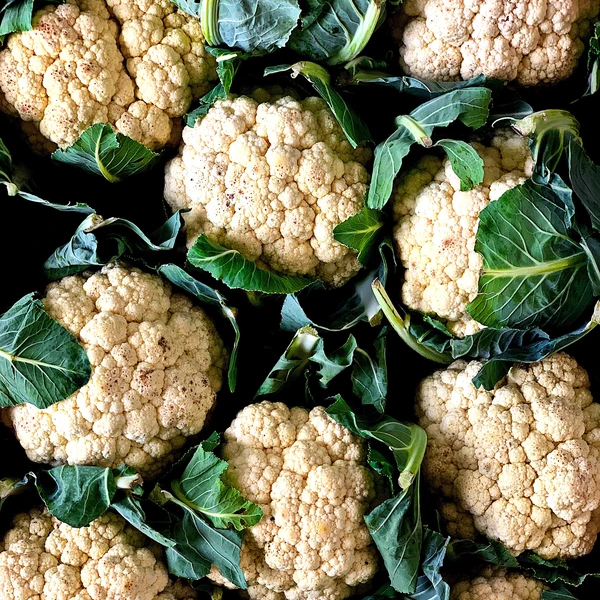 A large bunch of cauliflowers