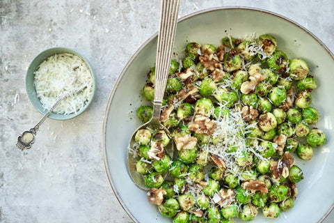 brussel sprouts salad in a bowl