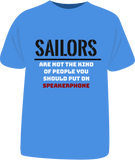 "Tricou sailing ""Sailors are not the kind of people"""