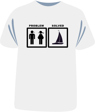 "Tricou sailing ""Problem solved"""