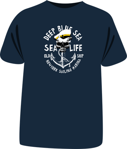 "Tricou ""Deep blue sea"""
