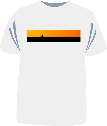 "Tricou sailing ""Sunset"""