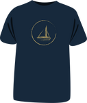 "Tricou ""Golden Sailboat"""