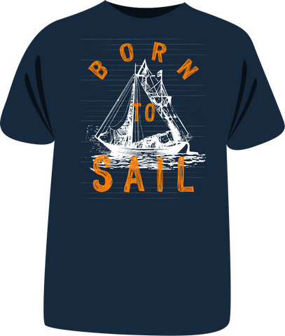 "Tricou sailing ""Born to Sail"" third edition"