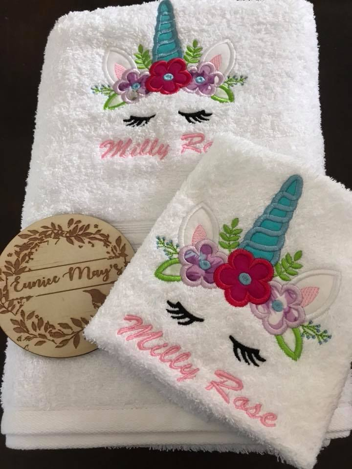 Embroidered 3 Piece Towel Set - Budget