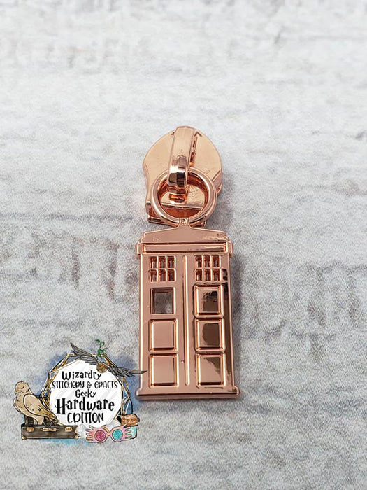 Phone Booth #5 Nylon Zipper Pulls