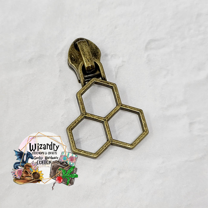 Honeycomb #5 Nylon Zipper Pulls