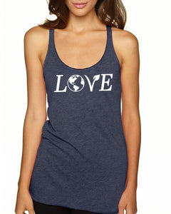 Love Earth and Veganism Ladies Tank Top