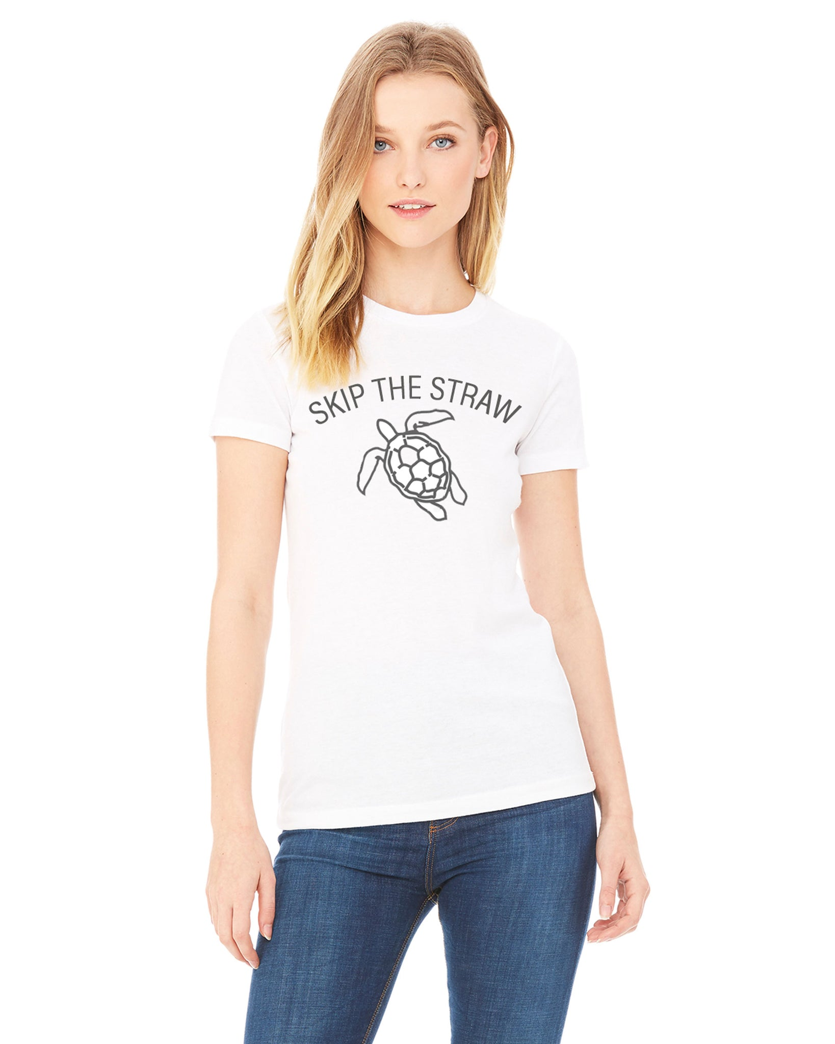Skip the straw turtle t-shirt