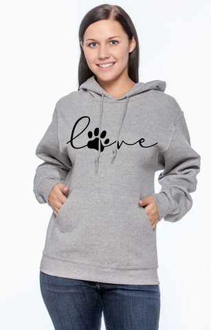 love paw print sweatshirt
