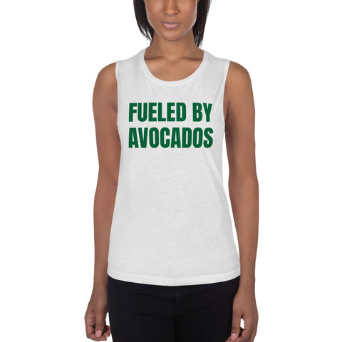 Fueled By Avocados Ladies' Muscle Tank