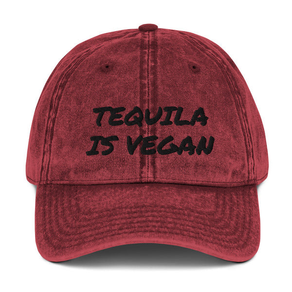 Vintage Tequila Is Vegan Cotton Twill Cap