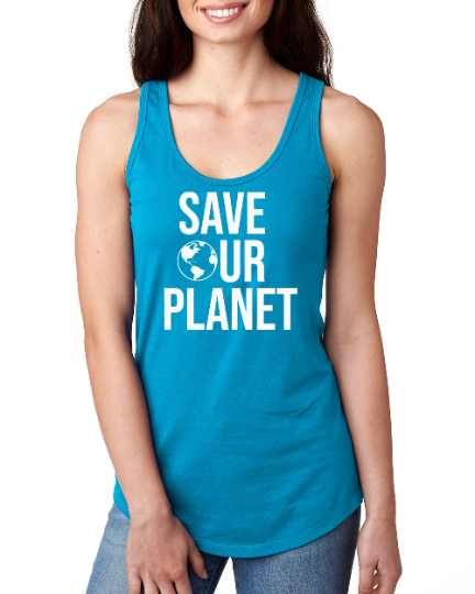 save our planet tank top