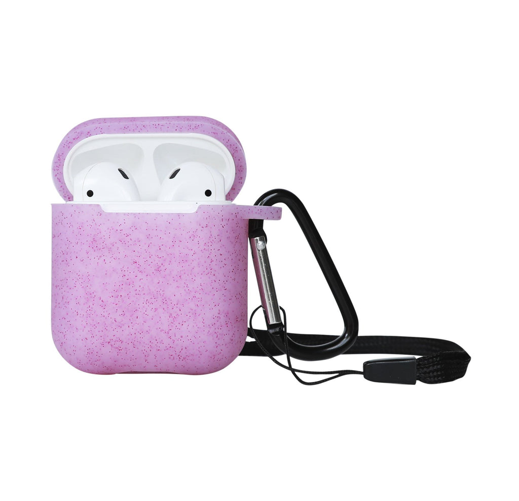 Shimmer Me Pink Silicone AirPods Case