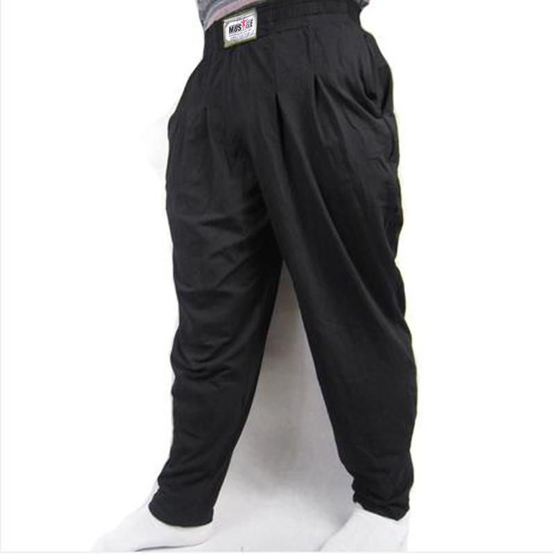 Fashion Sportswear Men's Baggy Pants For Bodybuilding Loose Workout Trouser Lycra Cottoneticdress-eticdress