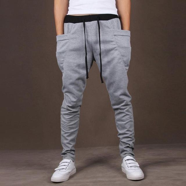 Fashion Fitted Bottoms streetwear hiphop Men Fitness Long Pants Casual Sweatpants Baggyeticdress-eticdress