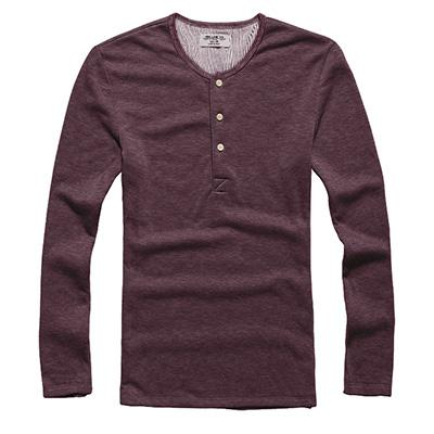 New Fashion Men Tee Long Sleeve Henley Shirts Military Casual T-shirteticdress-eticdress