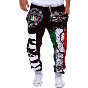 2017 fashion cotton men's casual pants explosion models sweat pants Italian flageticdress-eticdress