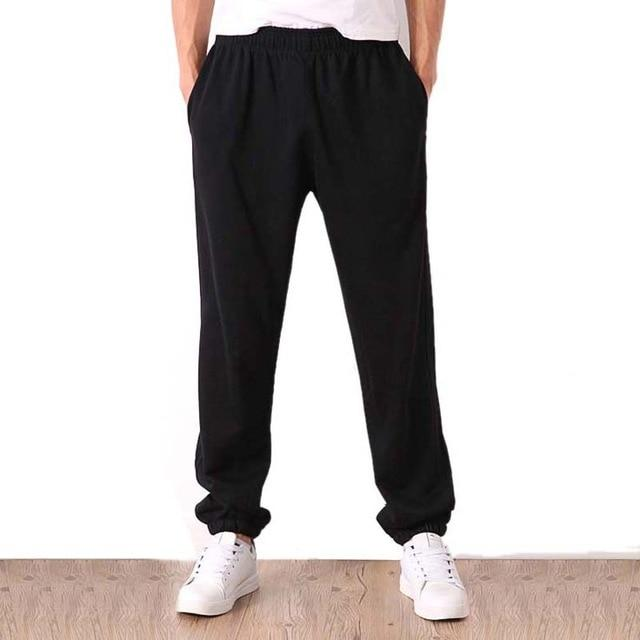 Men Big Size Sweatpants Spring Autumn Elastic Narrow Feet Pencil Pants Looseeticdress-eticdress