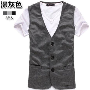 Male knitted vest fashion men casual blazer vestseticdress-eticdress
