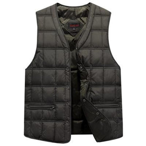 Winter Dresses Men White Duck Down Causal Vest Ultra Light Male Thicketicdress-eticdress