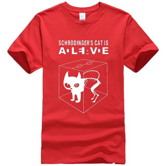 The Big Bang Theory Schrodinger's Cat men's T-shirts pattern 2017 summer fashioneticdress-eticdress