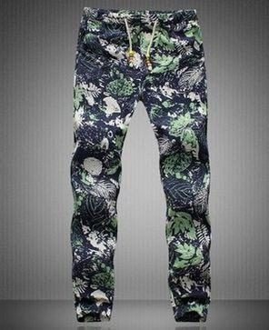 Mens Casual Drawstring Floral Joggers Hawaii beach pants Indian Pattern Printed Dancingeticdress-eticdress