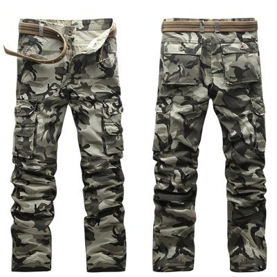 2017 Men's Tactical Pants Fashion Camouflage Cargo Pants Army Green Loose Multieticdress-eticdress