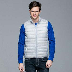 2017 New Casual Brand Men Sleeveless Jacket Winter Ultralight White Duck Downeticdress-eticdress