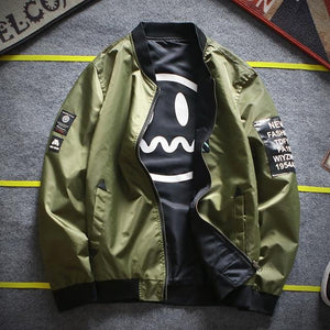 2017 Bomber Jacket Men Army Green Thin Pilot Bombereticdress-eticdress