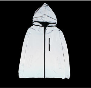 Free shipping Spring/autumn Men windbreaker 3m reflective jacket casual hip hop jacketseticdress-eticdress