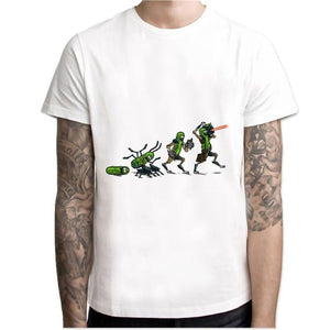 pickle rick t-shirt mens Rick and morty New Anime funny t-shirt Summereticdress-eticdress