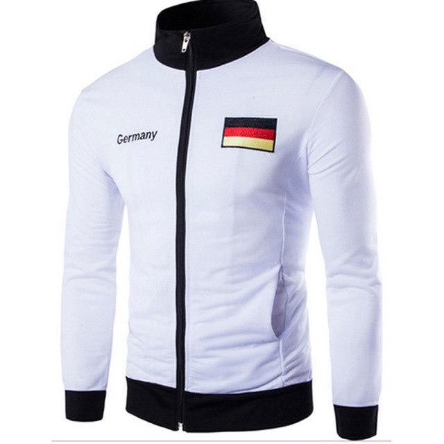 Free Shipping Men's Casual Jacket Men's Germany Spain American Flag Embroidery Designeticdress-eticdress