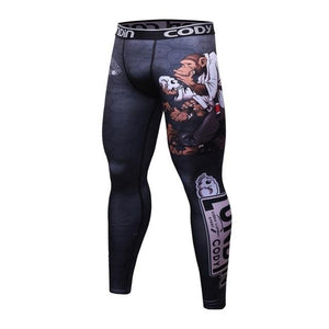 Cody Lundin Brand 2017 Men Fitness Leggings Tights Elastic Prints Compression Tightseticdress-eticdress
