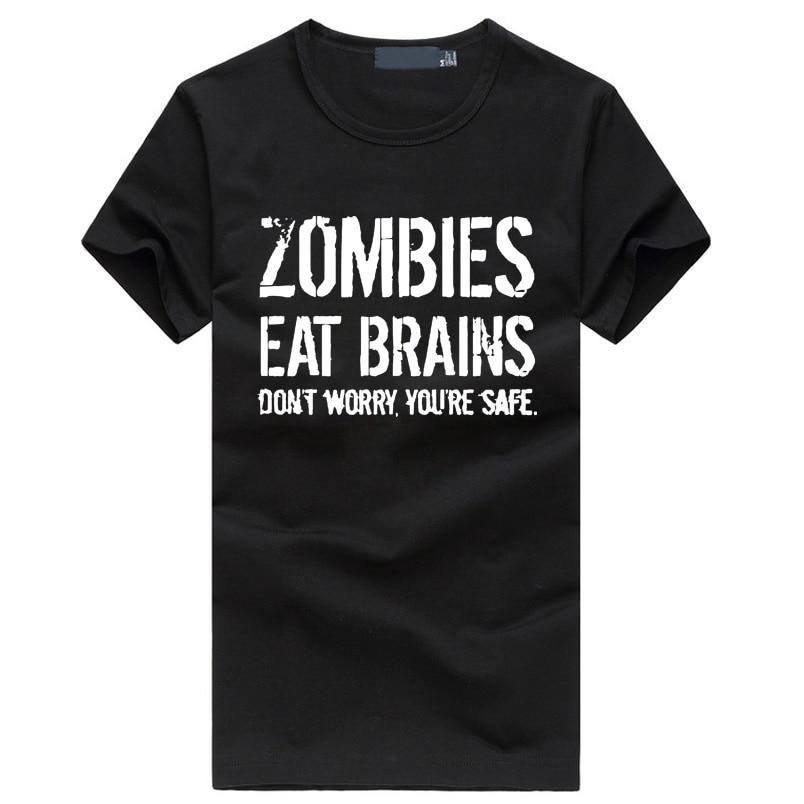 Zombies Eat Brains so You're Safe T Shirt Funny Zombie Shirt Undeadeticdress-eticdress