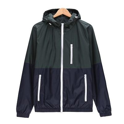 Windbreaker Men Casual Spring Autumn Lightweight Jacket 2018 New Arrival Hooded Contrasteticdress-eticdress