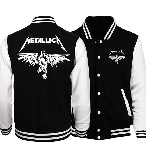 2018 Spring Hot Sale Rock Band Metallica Jacket Men Coat Fashion Baseballeticdress-eticdress