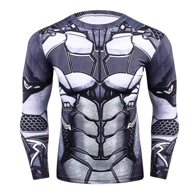 Fashion Long Sleeves Men's T-shirts 3D Prints Tight Skin Compression Shirts foreticdress-eticdress