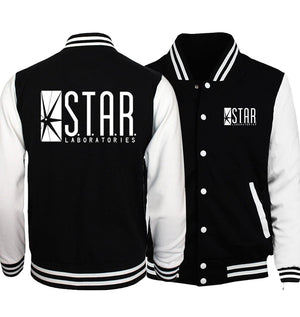 The Flasher Star S.T.A.R. Labs Baseball Jackets Men 2018 Spring New Hoodieseticdress-eticdress