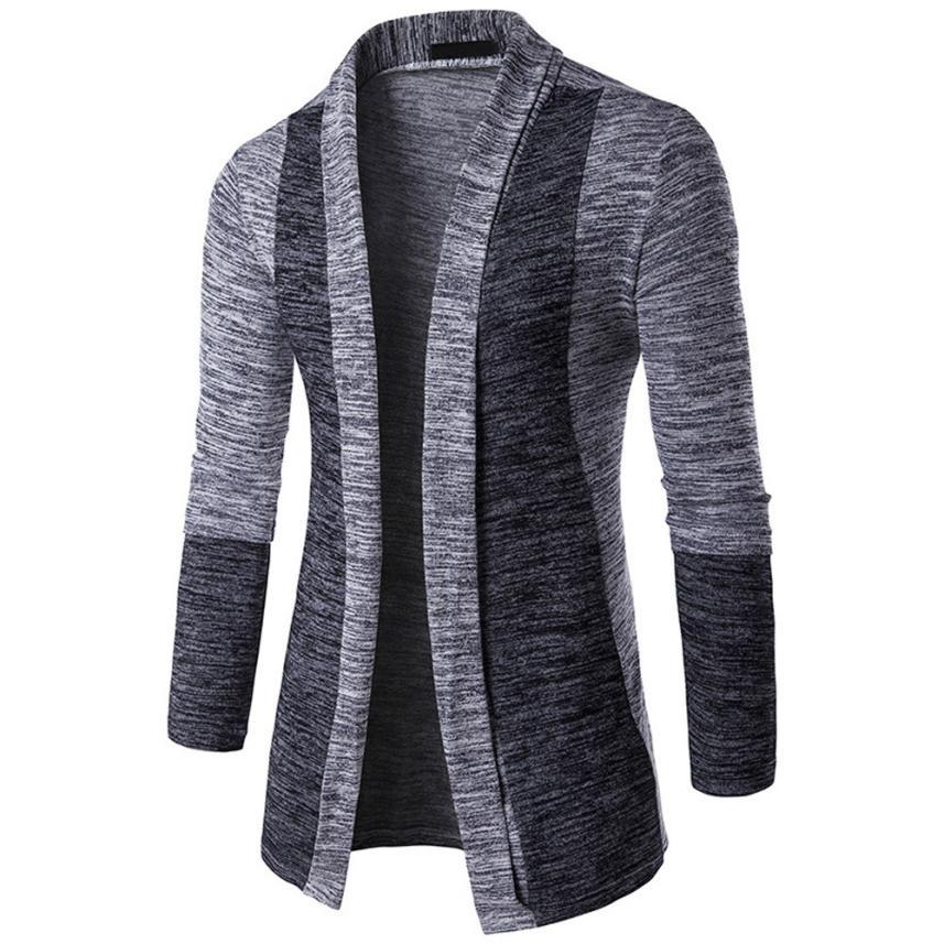 Men's Autumn Winter Sweater Cardigan Knit Knitwear Coat Jacket Sweatshirt Patchwork Longeticdress-eticdress