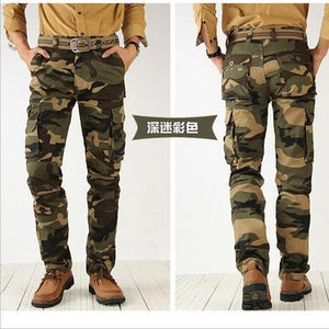 2017 trend men's cargo pants cotton high quality camouflage Jogger Male militaryeticdress-eticdress