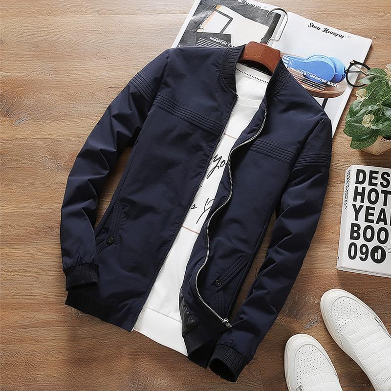NEW 2018 Spring Autumn Casual Men's Jacket Fashion Slim Men Overcoat Neweticdress-eticdress