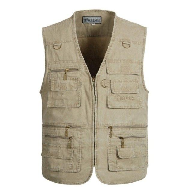 Oversize 5XL Multifunction Men Vest With Many Pockets Quick Dry Sleeveless Waistcoateticdress-eticdress