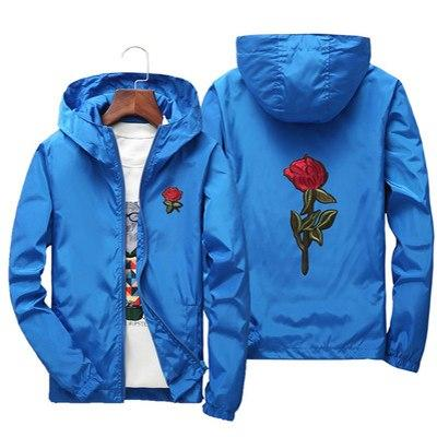 Drop Shipping Embroidery Roses Jacket S-7XL Fashion Hip Hop Outweareticdress-eticdress